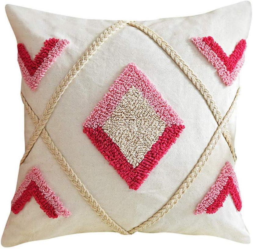 FQDBNM Pink Omaha Mall Cushion overseas Cover Ivory Co 45x45cm 30x50cm Pillow