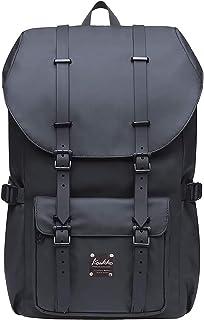 KAUKKO Rucksack Damen Herren Studenten 17 Zoll Backpack für 15 Notebook Lässiger Daypacks Schüler Bag für Wandern 43 cm, 20 L