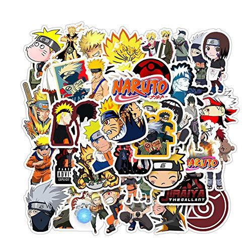 50 Pcs/Pack Waterproof Vinyl Graffiti Anime Naruto Sticker Pack for Water Bottle Skateboard Luggage Trolley Laptop Doodle Cool Sticker