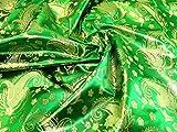Minerva Crafts Metallic-Brokat-Stoff, grün, Meterware