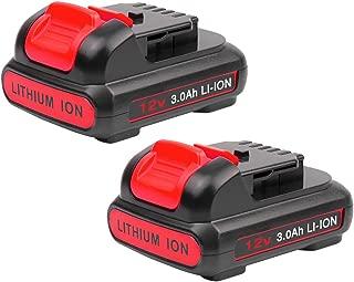 2-Pack 3000mAh 12V Replace for Dewalt Battery, Lithioum-ion Battery for Dewalt DCB120, DCB127, DCB123 Cordless Tools