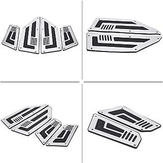 Poggiapiedi Moto per Y/&amaha TMAX 530 2012-2019 2020 TMAX 500 2001-2011 T-Max 500 Posteriore Passeggero Poggiapiedi Pedale pedane Colore : Gray
