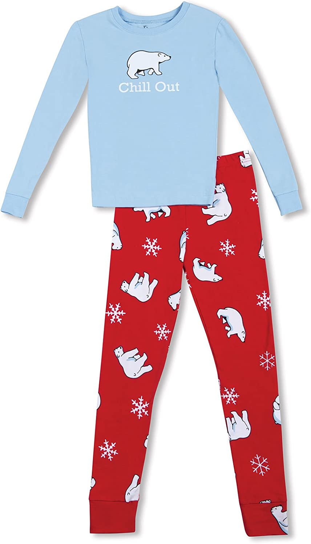 PajamaGram Boys Holiday Pajamas with Long-Sleeved Top