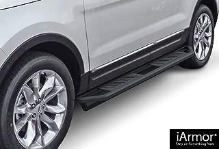APS iArmor Aluminum Side Steps Armor Custom Fit 2011-2019 Ford Explorer Sport Utility 4-Door (Nerf Bars Side Steps Side Bars)