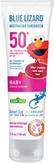 Blue Lizard BABY Mineral Sunscreen with Zinc Oxide, SPF 50+, Water Resistant, UVA/UVB Protection with Smart Cap Technology...