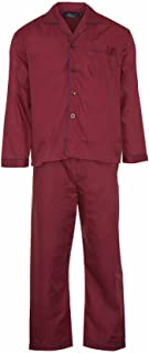 Champion Mens Pyjama Set Plain Coloured Spring Summer Long Sleeve Top and Trouser