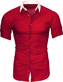 comprar comparacion Kayhan Hombre Camisa Manga Corta Slim Fit S M L XL 2XL - Modello Florida + Maimi