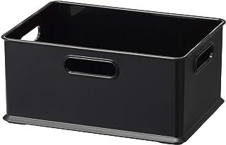 サンカ 収納ボックス シンプル 洗える 積み重ね スッキリ 取っ手付き Sサイズ ブラック色 (幅26.4×奥行19.2×高さ12cm) squ+ インボックス NIB-SBK 日本製