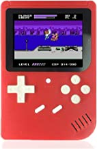 Losdz Handheld Game Console for Kids Adults, Portable Retro Video Games Consoles Built-in 300 Classic Game 3 inch Screen with AV Cable Can Play on TV(Red)