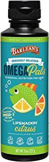 Barlean's Seriously Delicious Omega Pals High Potency Fish Oil Lipsmackin' Citrus, 8 Ounce
