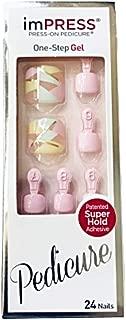 Kiss imPress Press-On Pedicure Gel Nails BIPT024XM Shooting Star