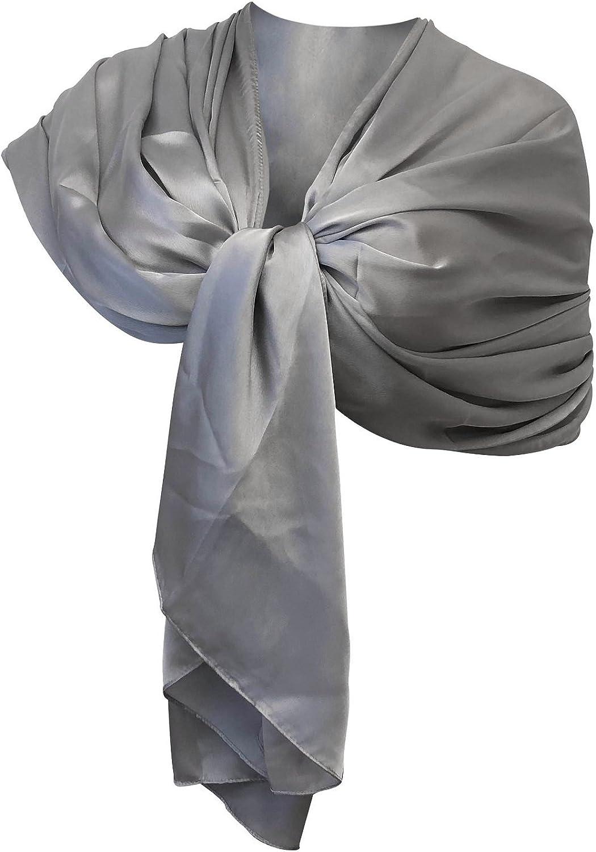 STOLA BLU MAXI foulard donna coprispalle elegante cerimonia vestito damigella F5
