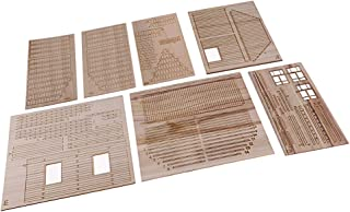 Homyl 1:35 Escala Modelo Casa de Madera Ruina Escena para Sand Table Arquitectura Kit