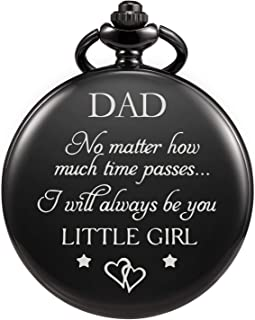 TREEWETO Pocket Watch for Dad from Daughter Engraved -