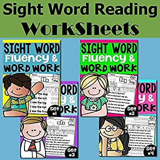 Sight Words Fluency and Word Work Bundle perfect for Distance Learning PDF Electronic File JoinBuy