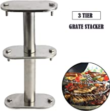WRKAMA 3 Tier Cooking Grate Stacker,EGGspander Kit for Big Green Egg(Grates not Included)Stainless Steel Swivel Rack for Kamado Joe,Char-Griller Charcoal Grill Accessories