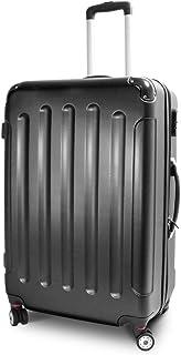 MS-Point BERWIN Trolley Reisekoffer Reisetasche Gepäcktasche Größe XL Stripes Farbe Schwarz
