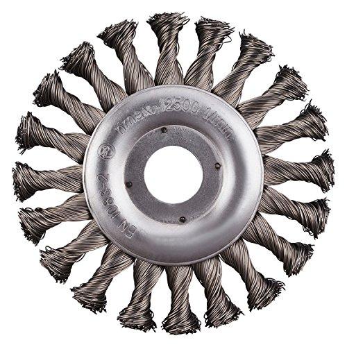 RHODIUS Rundbürsten Stahl SRBZ Made in Germany gezopft Ø 125 mm für Winkelschleifer Zopfbürste Unkrautbürste 2 Stück