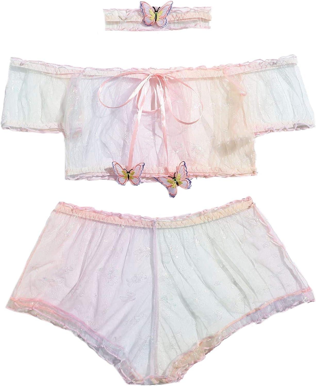 WDIRARA Women's Brand Cheap Sale Venue Selling Mesh Strapless Tie Dye Pant Lingerie and Bra Set