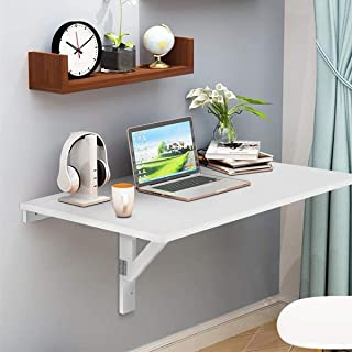 Laundry Room HLILY Wall Mounted Folding Table,Kitchen Dining Fold Down Table,Small Fold Wall Mounted Table White Hanging Desk For Small Spaces Bathroom Or Workbench