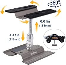 Hobbypark RC Car Stand Work Station Repair Workstation Aluminum Alloy 360 Degree Rotation Lift Or Lower for 1/12 1/10 1/8 Scale (Titanium)