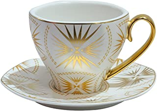 Ceramic Cup & Saucer. 250mL (white)