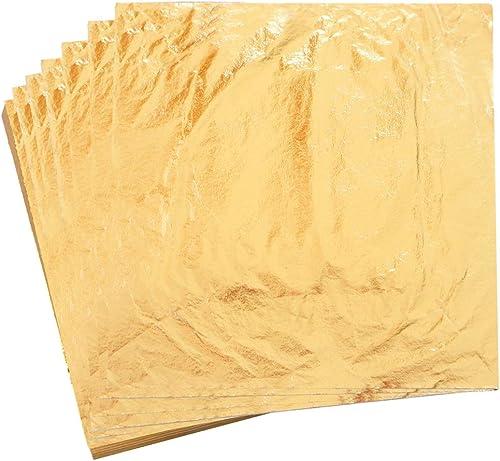 KINNO Gilding Foil Imitation Gold Leaf 100 Sheets 5 5 by 5 5 Color 2 5 Copper Leaf for Art Crafts Home Decoration Furniture Painting