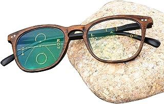 3a28d178ed QL Gafas de Lectura multifocales progresivas, Memoria de bisagras de  Material de Metal, lectores