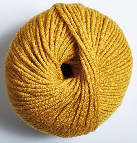 DMC WOOLLY 5' Merino Wool, Mustard, 80 m, 11.5 x 11.5 x 6 cm
