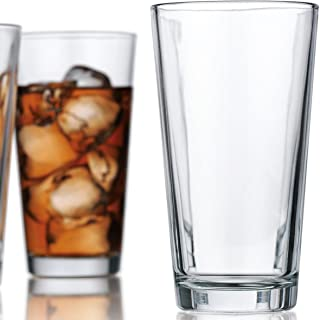 Attractive Highball Glasses Clear Heavy Base Tall Bar Glass - Set Of 10 Drinking Glasses for Water, Juice, Beer, Wine, and Cocktails 16 Ounces