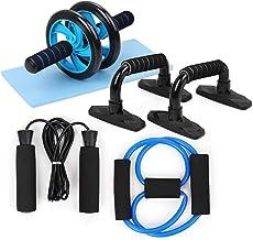 TOMSHOO Fitness apparaten, AB Roller buiktrainer en anti-slip kniemat fitness apparaten voor thuis - draagbare apparaten v...