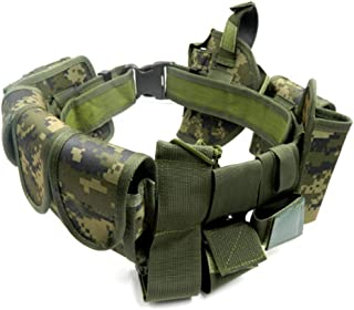 Lixada Modular Tactical Belt Duty Belt Police Security Law Enforcement Military Duty Utility Belt with Pouches Holster Gear