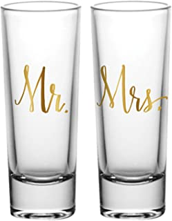 Mr and Mrs Matching Couple's Shot Glasses, Set of 2