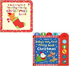 Babys Very First Touchy-feely Christmas Book [Board book], Babys Very First Noisy Book Christmas 2 Books Collection Set