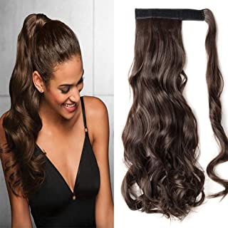 S-noilite Wrap Around on Ponytail Clip in Hair Extensions Human Made Real Natural Synthetic Hairpiece for Women 29 Style Available(17