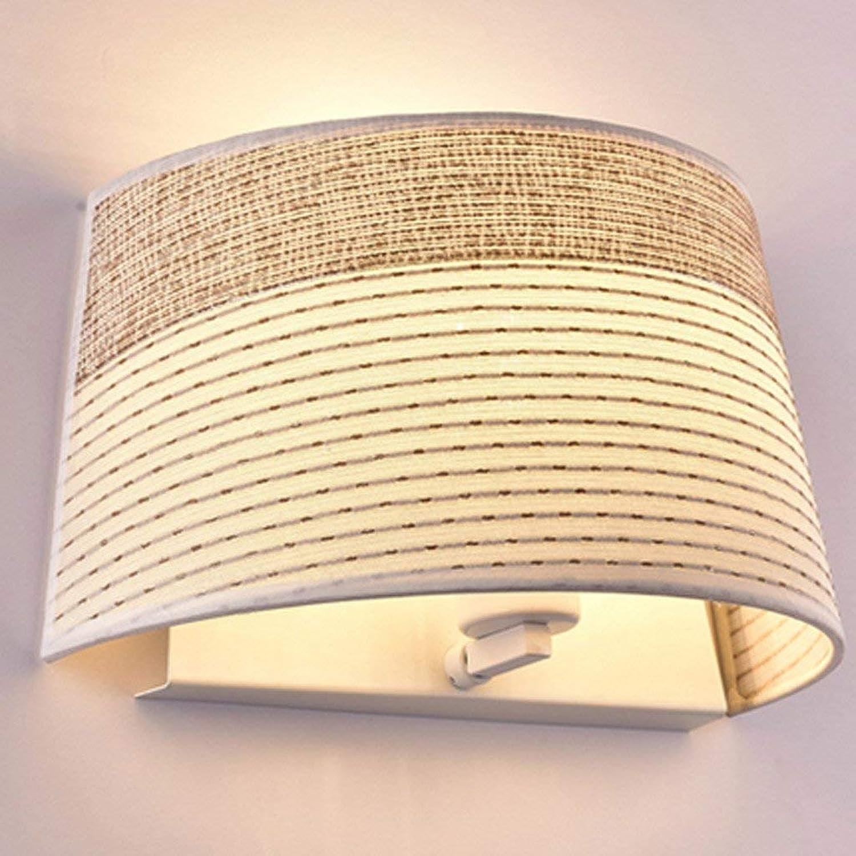 Nordic Schlafzimmer Stoff Warmen Bett Wandleuchte Moderne, Einfache Studie Europische Lampe Wandleuchte