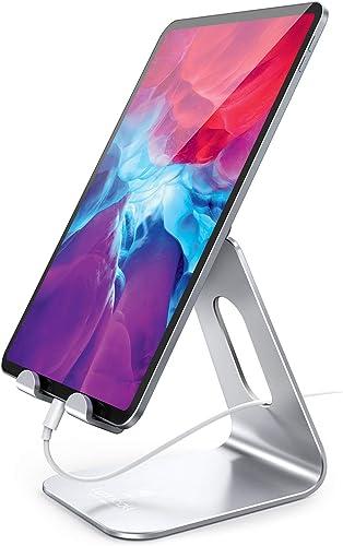 Soporte de Tablet Multiángulo, Lamicall Soporte Tablet : Ajustable base stand Soporte para iPad 2020 2019 Mini Air 2 ...