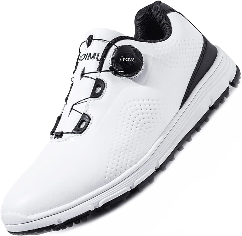 全国どこでも送料無料 NOXNEX Men's Spikeless Golf Shoes Shoe ストアー Quick Waterproof Golfers