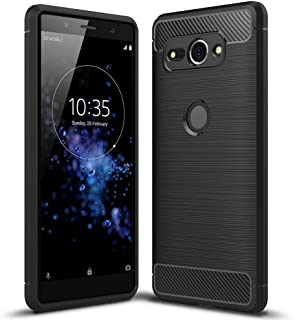 NALIA Silicone Case Compatible with Sony Xperia XZ2 Compact, Ultra-Thin Protective Phone Cover Rubber-Case Gel Soft Skin, Shockproof Slim Back Bumper Protector Back-Case Shell - Black