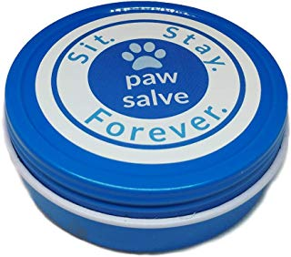 SIT. STAY. FOREVER. SAFETY FIRST PET PRODUCTS Organic Paw Salve for Dogs & Cats, Healing & Protection Bees Wax Balm for Cracked, Dried, Injured Feet and Noses 2oz Made in USA