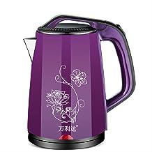 Bouilloire Électrique, Multifonction, Grande Capacité, Acier Inoxydable Imprimé violet