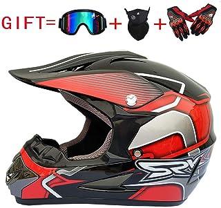 SK-LBB Casco de Cross para Adultos Casco para Motocicleta Casco para Motocicleta y Casco de Resistencia