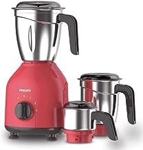 Philips HL7756/02 750 W Mixer Grinder 3 Stainless Steel Jars Deep Red & Black