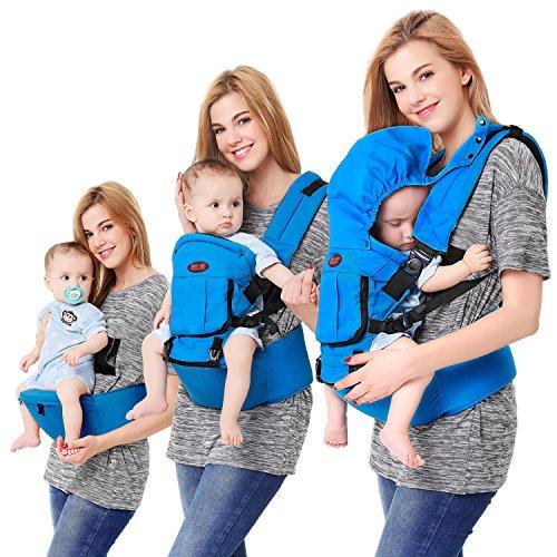 Mochila Portabebés Ergonómico, Portador de Bebé Multifuncional transpirable 4 en 1 para Recien Nacido al 36 Meses Niños para Todas las Estaciones (3kg hasta 20kg)
