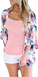 Coaches' & Referees' Gear iSkylie Womens Chiffon Top T-Shirt Blouses Shawl Printed Sweatshirt Open Front Lace Kimono Cardigan Cover Up Flare Sleeve Marker Boards