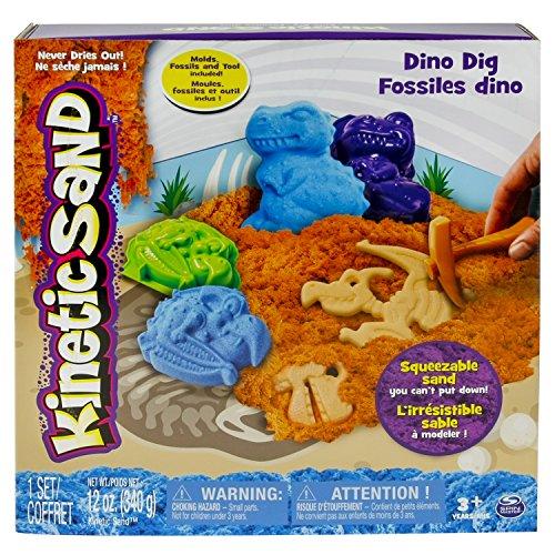 Spin Master 6025224 - Kinetic Sand - Dino Dig Set