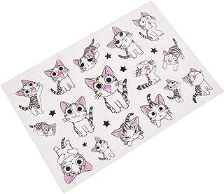 Qqinghan 1 vel schattige kaas kat tijdelijke tattoo stickers zoete huis kat kinderen flash tattoo plakken waterdicht nep (...