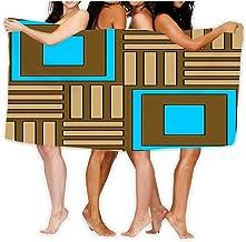 Bath Towel Soft Big Beach Towel 80 X 130CM Unique Soft Geometric Ornament Ceramics Wallpaper Textile Web