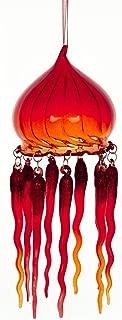 blown glass jellyfish ornament