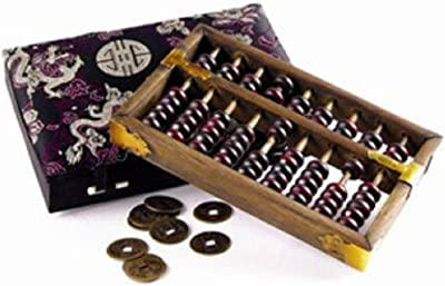 StealStreet 20755 Small Abacus Counting Tool with Chinese Coins, 7.5